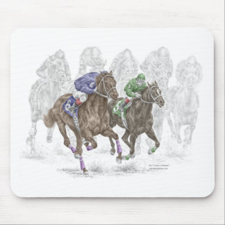 Galloping Race Horses Mouse Mat