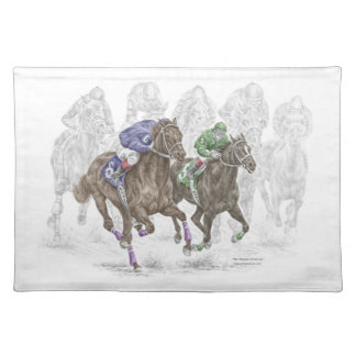 Galloping Race Horses Placemat