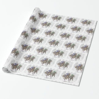 Galloping Race Horses Wrapping Paper