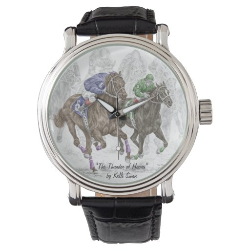 Galloping Race Horses Watch