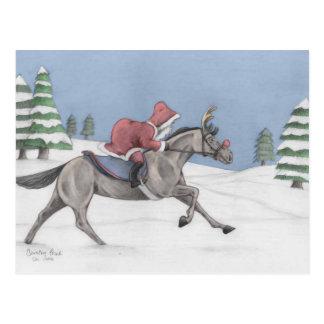 Galloping Santa Postcard
