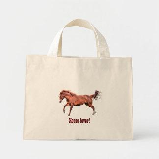 Galloping Spirited Red Dun Horse Design Canvas Bags
