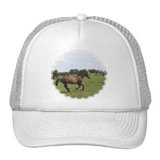 Galloping Thoroughbred  Baseball Hat