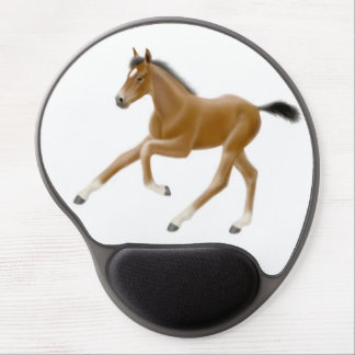 Galloping Thoroughbred Foal Gel Mousepad