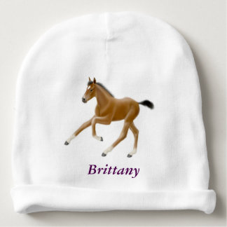 Galloping Thoroughbred Horse Foal Baby Hat Baby Beanie