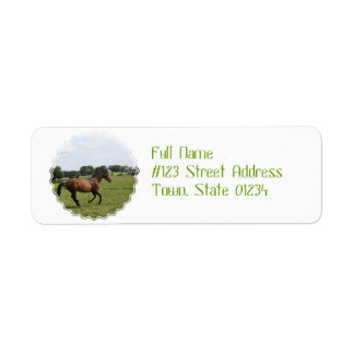 Galloping Thoroughbred  Mailing Labels