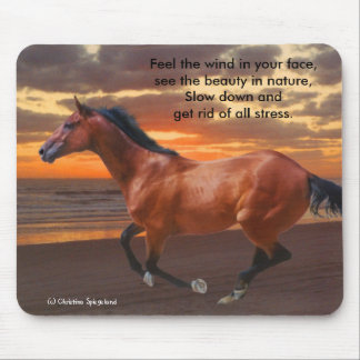 Galloping Thoroughbred Ocean Mousepad