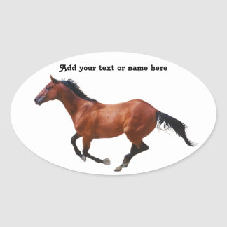 Galloping Thoroughbred Sticker