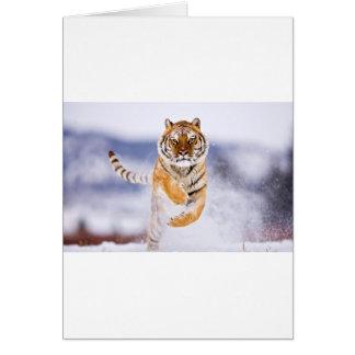 Galloping Tiger Greeting Card