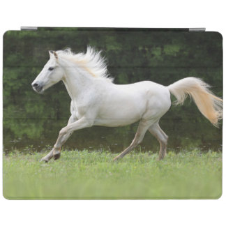 Galloping White Horse iPad Cover