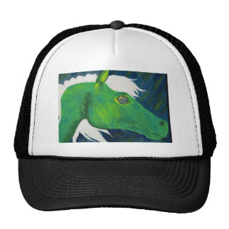 Galloping wild horse, by Charli Windsor Mesh Hats