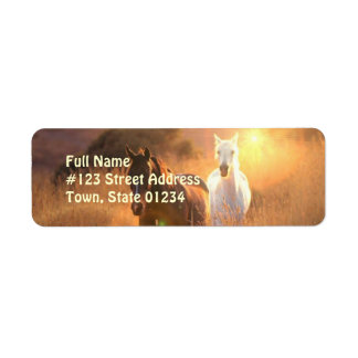 Galloping WIld Horse Return Address Label