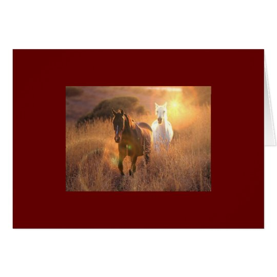 Galloping Wild Horses Greeting Card