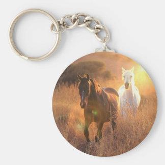 Galloping Wild Horses Keychain