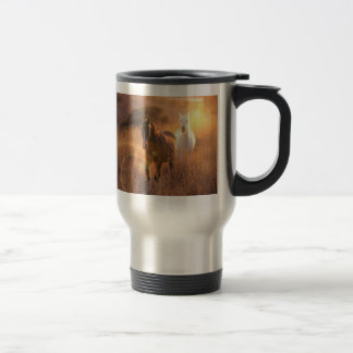 Galloping Wild Horses Stainless Travel Mug