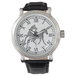 Galloping Zebras Watch