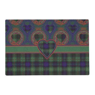 Galloway clan Plaid Scottish kilt tartan Laminated Placemat