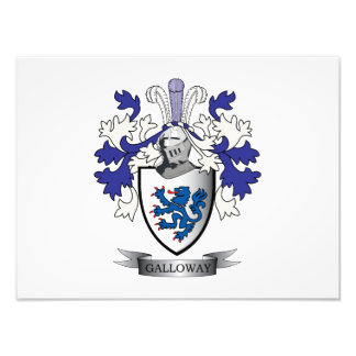Galloway Family Crest Coat of Arms Photograph