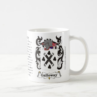 Galloway, the origin, the meaning and the crest basic white mug