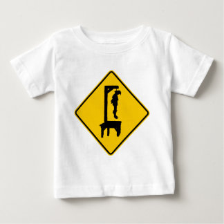 Gallows Ahead Highway Sign Baby T-Shirt