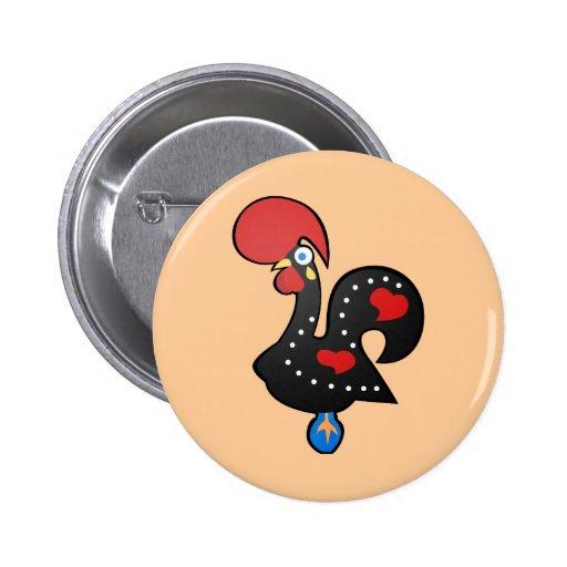 Galo De Barcelos Pinback Buttons