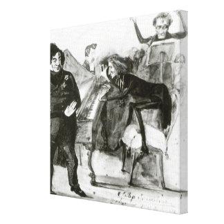 Galop Chromatique Canvas Print