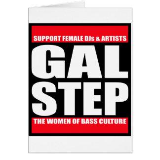 GALSTEP Dubstep Women's Dub DnB reggae Electro DJ Greeting Card