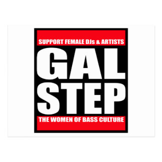 GALSTEP Dubstep Women's Dub DnB reggae Electro DJ Postcard