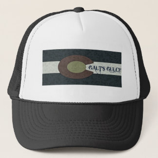 Galt's Gulch - Red White and Blue Combo Design Trucker Hat