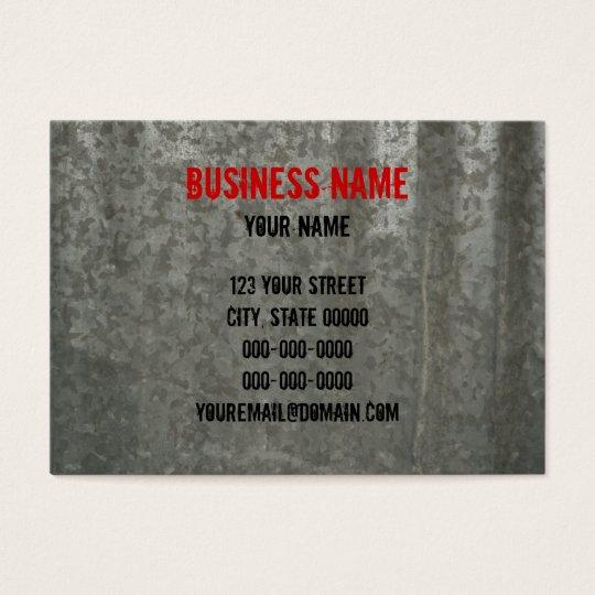 Galvanised Corrugated Sheet Metal Business Card