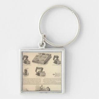 Galvano Faradic Manufacturing Company Bickford Silver-Colored Square Key Ring