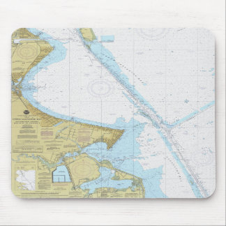Galveston Bay Houston Ship Channel Chart Mouse Pad