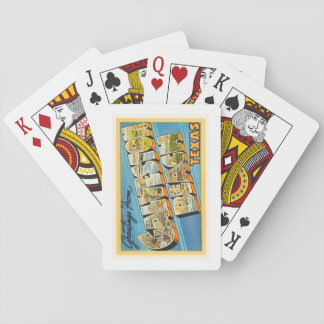 Galveston Beach Texas TX Vintage Travel Souvenir Playing Cards