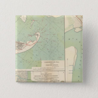 Galveston, Charleston Harbor, Port Hudson 15 Cm Square Badge