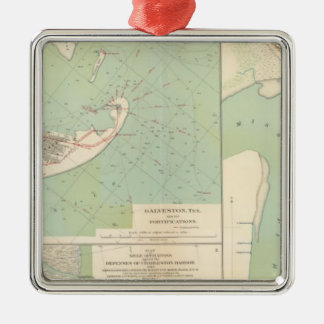 Galveston, Charleston Harbor, Port Hudson Christmas Ornament