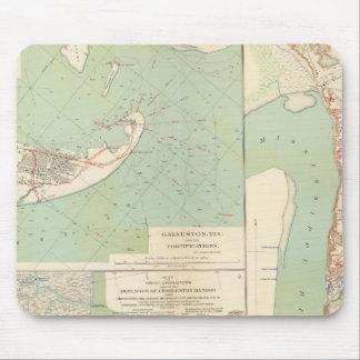Galveston, Charleston Harbor, Port Hudson Mouse Mat