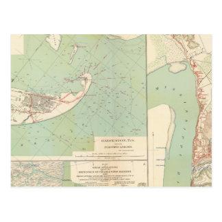 Galveston, Charleston Harbor, Port Hudson Postcard