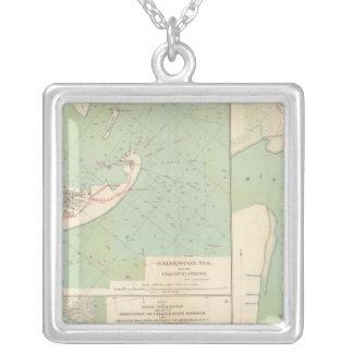 Galveston, Charleston Harbor, Port Hudson Silver Plated Necklace