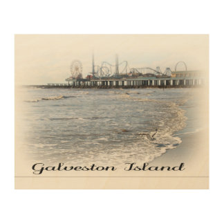 Galveston Island Pleasure Pier Wood Wall Art