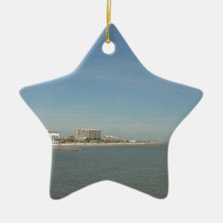 Galveston Island, Texas Ceramic Star Decoration