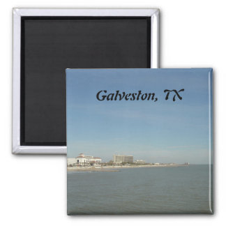Galveston Island, Texas Square Magnet