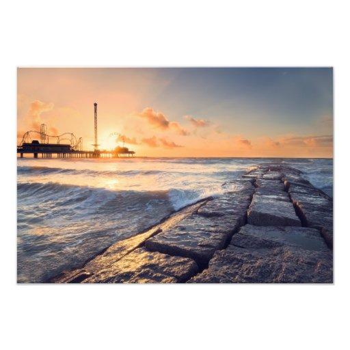Galveston Pier Sunrise Photo