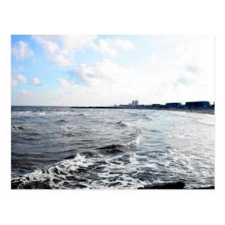 Galveston Seawall Postcard
