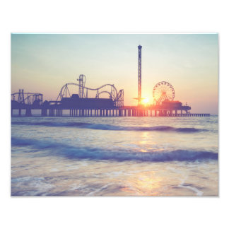 Galveston Sunrise Silhouette Photo Print