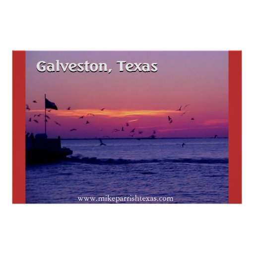Galveston Texas Ferry Crossing Poster