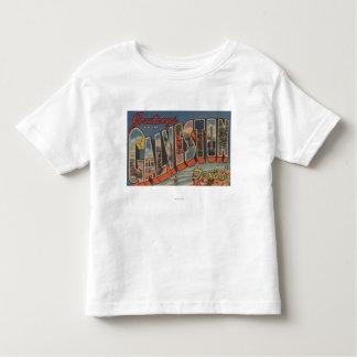Galveston, Texas - Large Letter Scenes Toddler T-Shirt