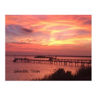 Galveston Texas Sunset Postcard