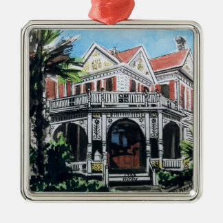 Galveston Watercolor, 1876 F. Beissner House Christmas Ornament
