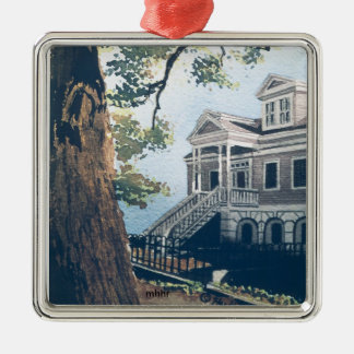 Galveston Watercolor, 1876 William Weber House Christmas Ornament