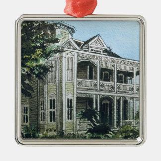 Galveston Watercolor, 1886 Joel Wolfe House Christmas Ornament